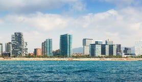 Barcelone de la mer Méditerranée Image libre de droits