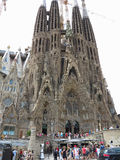 05 07 2016, Barcelone, Espagne Église de Sagrada Familia sous le const Photos stock
