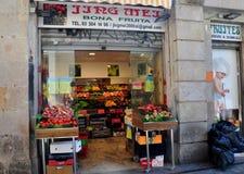 Barcelone, Espagne : Épicerie locale Photos libres de droits