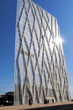 BARCELONE, ESPAGNE - 12 août construction en verre moderne le 12 août, Photos stock