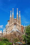 Barcelone, Espagne - 18 avril 2016 : Cathédrale de La Sagrada Familia Image libre de droits