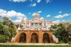 Barcelone, Espagne - 22 avril 2016 : Musée National d'art, place de Placa De Espanya Spanish Images stock