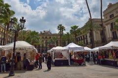 BARCELONE, ESPAGNE - 28 AVRIL : Quart gothique de Barcelone le 28 avril 2016 à Barcelone, Espagne Image stock