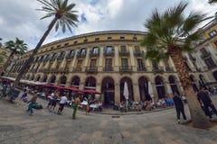 BARCELONE, ESPAGNE - 28 AVRIL : Quart gothique de Barcelone le 28 avril 2016 à Barcelone, Espagne Photographie stock libre de droits