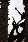 Barcelone, Espagne Corten la sculpture en acier à Barcelone photo libre de droits