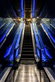 Barcelone Espagne, escalator d'aquarium, aquarium photo libre de droits