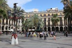 BARCELONE, ESPAGNE - 9 JUIN : Plaza vraie en juin 2013 dans Barcelon Photos libres de droits