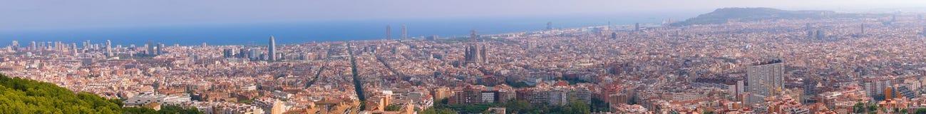 Barcelone, Espagne le 3 septembre 2018 : Un panorama de Barcelone photographie stock libre de droits