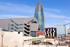 Vue de Barcelone, Espagne Photos libres de droits