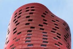 BARCELONE, ESPAGNE – 20 OCTOBRE : Hôtel Porta Fira le 20 octobre 2013 à Barcelone, Espagne. L'hôtel est un bâtiment de 28 histoire Images stock
