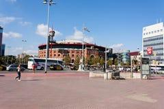 BARCELONE, ESPAGNE - 17 octobre 2017 - Placa Espanya Barcelone Photographie stock