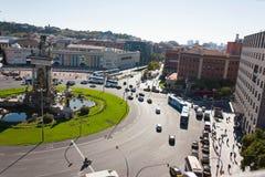 BARCELONE, ESPAGNE - 17 octobre 2017 - Placa Espanya Barcelone, I Photo stock