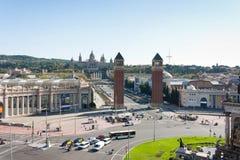 BARCELONE, ESPAGNE - 17 octobre 2017 - Placa Espanya Barcelone, il Photos libres de droits