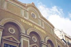 Barcelone, Espagne - 29 septembre 2016 : Façade de Teatre Principa photographie stock