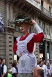 Barcelone, Espagne - 24 septembre 2016 : Le festival annuel Giants de Merce de La défilent Image libre de droits