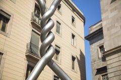 Barcelone, Espagne - 24 septembre 2017 : Sculpture pour un hommage t photo stock