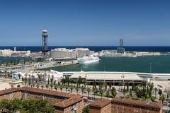 Barcelone et x28 ; Spain& x29 ; : vue de Montjuic Photos libres de droits