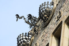 Barcelone. Forged iron modernist Barcelona, Catalonia (Spain Royalty Free Stock Image