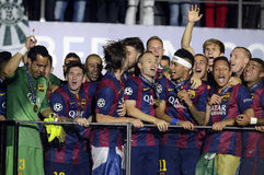 Barcelone gagne la finale de ligue de champions Photo stock