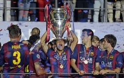 Barcelone gagne la finale de ligue de champions Images libres de droits