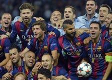 Barcelone gagne la finale de ligue de champions Image stock