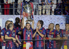 Barcelone gagne la finale de ligue de champions Photos stock