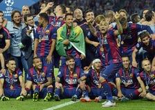 Barcelone gagne la finale de ligue de champions Image libre de droits