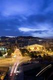 Barcelone la nuit Images libres de droits