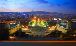 Barcelone la nuit Photo libre de droits