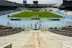 Barcelone le Stade Olympique - panorama Photo stock