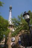 Barcelone - maison de Gaudi par le stationnement de Guell Images libres de droits