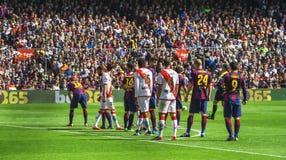 Barcelone pendant le match photographie stock