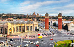 Barcelone - Placa de espanya, Espagne Image libre de droits