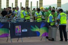 BARCELONE - 6 SEPTEMBRE : Entrée au stade au monde de Barcelone Images libres de droits