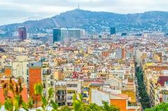 Barcelone, vue des maisons de la Catalogne Photos libres de droits