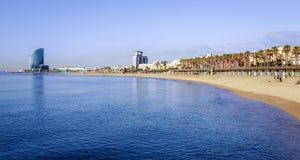 Barceloneta海滩在夏天 图库摄影