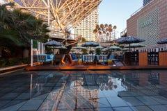 Barceloneta海滩的图什餐馆 免版税库存照片