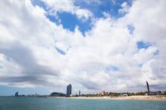 Barceloneta海滩 免版税库存图片