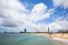 Barceloneta海滩 库存照片