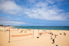 Barceloneta海滩 免版税图库摄影