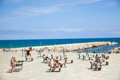 Barceloneta海滩 免版税库存照片
