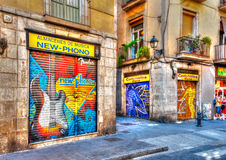 Barceloneta area Stock Image