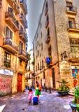 Barceloneta area Royalty Free Stock Photos
