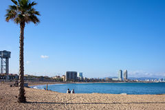 Barceloneta Beach in Barcelona Royalty Free Stock Images