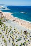 Barceloneta beach in Barcelona Royalty Free Stock Photo