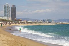 Barceloneta Beach Stock Photography