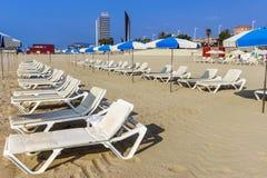 Barceloneta Beach in Barcelona, Spain Stock Photos