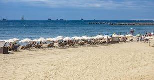 Barceloneta Beach in Barcelona, Spain Stock Photography
