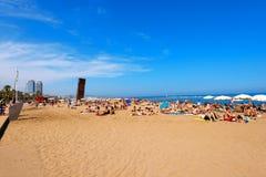 Barceloneta Beach - Barcelona Spain Royalty Free Stock Image