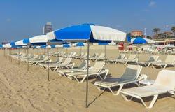 Barceloneta Beach in Barcelona, Spain Royalty Free Stock Images
